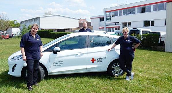 DRK-Hausnotrufteam im Landkreis Emmendingen neu aufgestellt. Das Hausnotrufteam des DRK-Kreisverbandes Emmendingen (von links): Ruth Würstlin, Pascal Heß und Peggy Böhm.