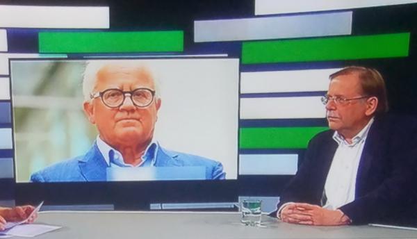 Präsident Fritz Keller geht und Vizepräsident Dr. Rainer Koch (rechts) wird beim nächsten Ordentlichen Bundestag nicht mehr für das Amt des 1. Vizepräsidenten Amateure kandidieren. Dies war am Samstag noch keine Perspektive bei seinem Besuch im ZDF-Sportstudio (Bild)  TV-Bild