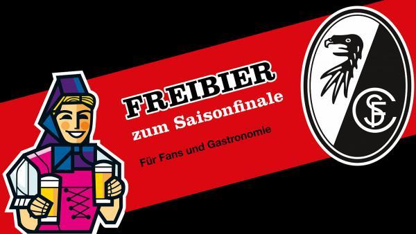 Fußball: FReibier zum Saisonfinale (15. Mai) - SC Freiburg und Brauerei Rothaus initiieren corona-gerechte Freibier-Aktion.  Foto: SC Freiburg