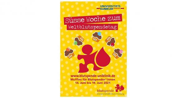 14. bis 19. Juni: Helfen schmeckt süß - Ein süßes Dankeschön der Blutspendezentrale des Universitätsklinikums Freiburg erwartet alle Spender in der Woche des Weltblutspendetags.  Foto: Universitätsklinikum Freiburg