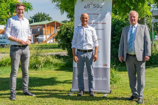 CDU-Bundestagskandidat Bury und CDU-Bundestagsabgeordneter Weiß besuchten 48° Süd-Inklusionsbetrieb in Herbolzheim.  REGIOTRENDS-Foto: Jens Glade