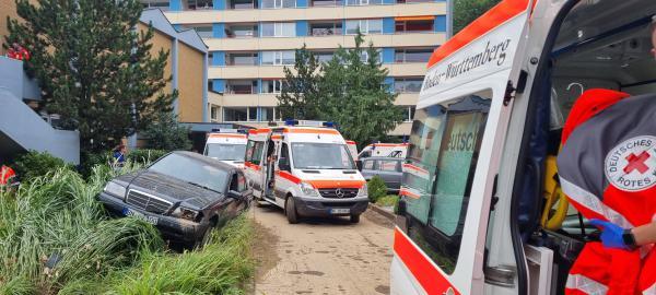 DRK Einsatzkräfte aus dem Landkreis Emmendingen halfen bei Flutkatastrophe in Rheinland Pfalz. Die Evakuierung des Pflegeheims in Ahrweiler war eine logistische und körperliche Herausforderung.