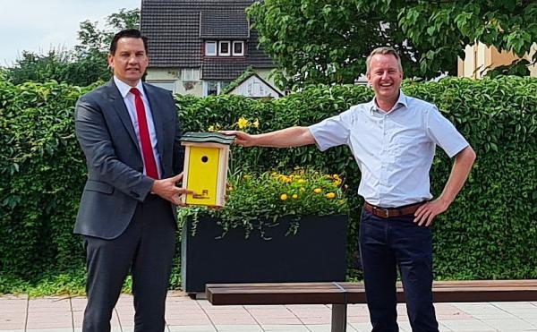 """""""Bund und Länder sollten mehr Vertrauen in die Kommunen haben."""" - SPD-Bundestagsabgeordneter Johannes Fechner (links) besuchte Bürgermeister Pascal Weber in Ringsheim.  Foto: Büro Johannes Fechner"""