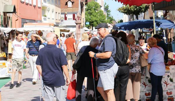 5. August: Laurentiusmarkt belebt Markttradition in Oberkirch. Laurentiusmarkt im Jahr 2019.  Foto: Stadt Oberkirch - Ulrich Reich