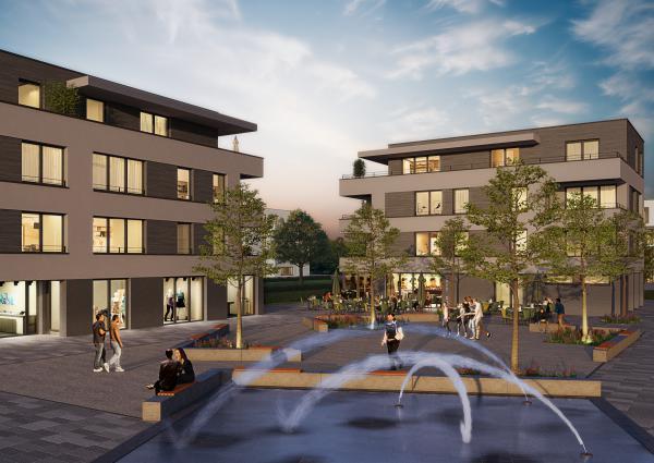 Stuckert Wohnbau AG | Achern - Quartier Glashütte | Quartiersplatz