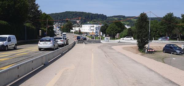 Ab 28. August 2021: Umbau des Knotenpunktes B 317 / L 138 am Entenbad Lörrach auf der Zielgeraden - B 317 für eine Woche voll gesperrt – Ampelanlage kommt im Herbst