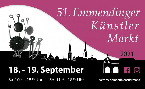 18./19. September: 51. Künstlermarkt in Emmendingen wieder als Kunstfeld.