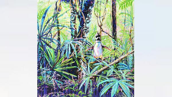 18./19. September: Führungen in der Städtischen Galerie Offenburg. Chang Min Lee, Dschungel V (80 x 80 cm, 2019).  Foto: Stadt Offenburg