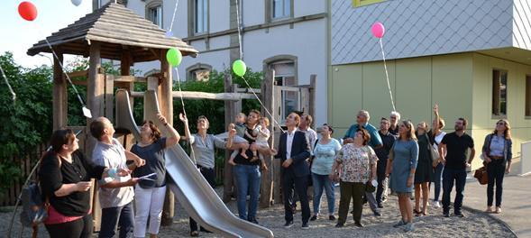 Erweiterung der Alten Schule in Lörrach-Haagen zur Kindertagesstätte   Bild: Alexander Fessler, Stadt Lörrach