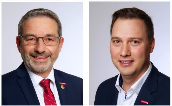 Kammerpräsident Johannes Ullrich (links) und Handirk von Ungern-Sternberg, Mitglied der Geschäftsleitung der Handwerkskammer Freiburg.  Bild: Handwerkskammer Freiburg
