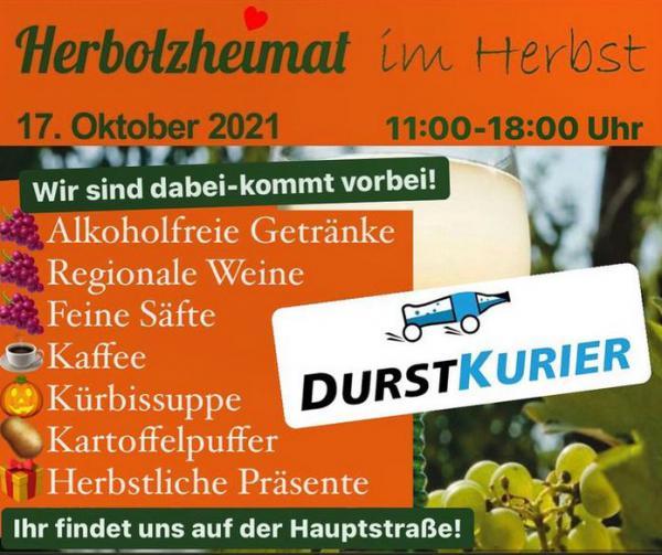 DURSTKURIER, Uwe Körkel e.K., Holzmattenstraße 16, 79336 Herbolzheim Tel.: 07643 7523000, info@durstkurier.de